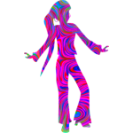 Colourful disco dancer