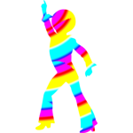 Colorful disco dancer