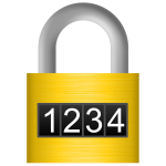 Combination lock vector image