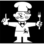 Chef pictogram vector drawing