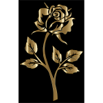 Copper Rose Silhouette