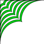 Vector image of corner decoration in green and white