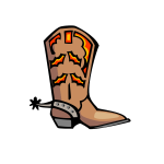 Cowboy boot vector graphics