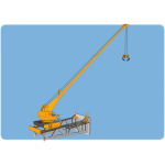 Vector illustration of high crane