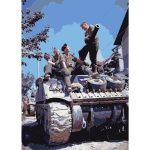 Crew of a Sherman tank south of Vaucelles 2016122133