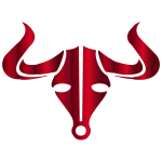 Crimson Bull Icon No Background