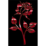 Crimson Rose Silhouette Variation 2