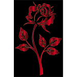 Crimson Rose Silhouette