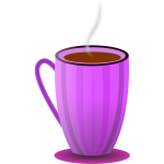 Purple tea mug vector clip art
