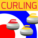 Curling sports icon vector drawing