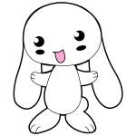 Cute Cartoon Bunny