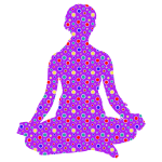 Cute Floral Female Yoga Pose Silhouette 7 Variation 2