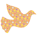 Cute Floral Peace Dove