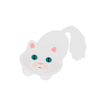 Cute fluffy cat vector graphics