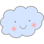 Cute smiling cloud vector drawing