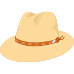 Panama style hat vector drawing