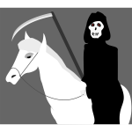 Death riding a pony vector clip art