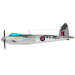The de Havilland Mosquito vector drawing