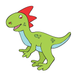 Smiling dinosaur vector image