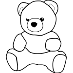Vector graphics of paintable teddy bear