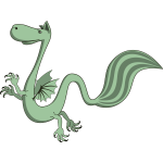 Green dragon, cartoon style