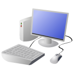 Cartoon desktop computer vector image