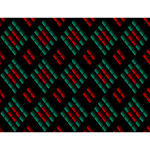Diamond pattern in green and red