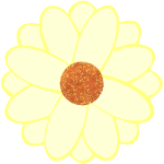 Vector image of daisy petals