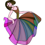 Colorful happy danseuse