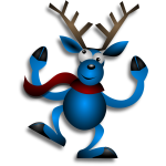 Vector drawing of dancing raindeer