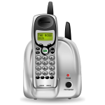 Cordless phone photorealistic vector image