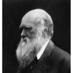 Charles Darwin in black and white