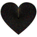 Dashed Line Art Heart Tunnel 2