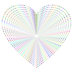 Dashed Line Art Heart Tunnel No Background