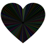 Dashed Line Art Heart Tunnel