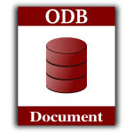 ODF document vector icon