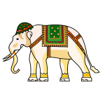 Decorated ornamental elephant