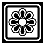Decorative square with flower