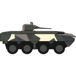 Military vehicle illustration