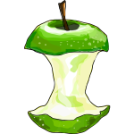 Vector image of eaten apple