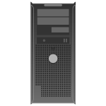 OptiPlex GX300 server vector drawing