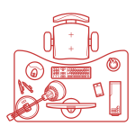 Desktop and monitor