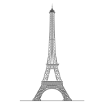 Detailed Eiffel Tower Trace 2