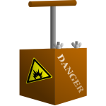 Vector image of brown detonator box
