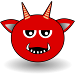 Little Red Devil cartoon vector image
