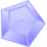 Hexagonal blue diamond vector image