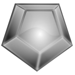 Six sides shiny gray diamond vector illustration