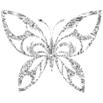 Diamond Tribal Butterfly Silhouette