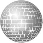 Disco ball vector graphics