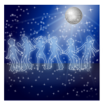 Dance party vector clip art